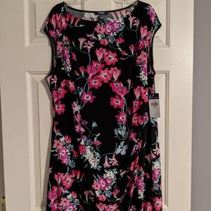 NWT Floral Dress Pink/Green/Black Chaps